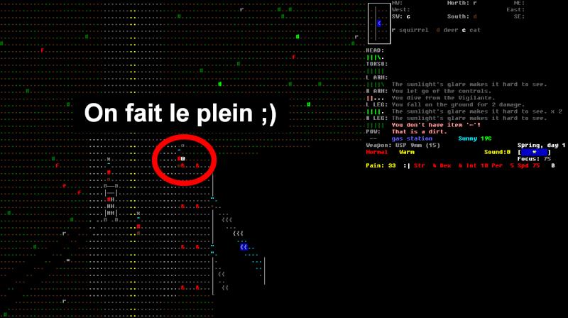 Challenge Francophone de Roguelike sur Cataclysm DDA - Septembre 2013 - CFRL1309CDDA071-KEVIN Jour_116