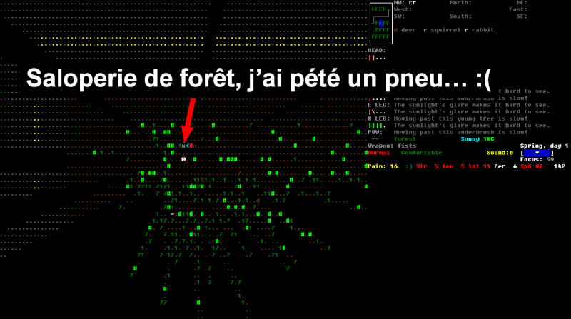 Challenge Francophone de Roguelike sur Cataclysm DDA - Septembre 2013 - CFRL1309CDDA071-KEVIN Jour_118