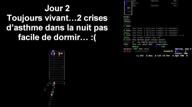 Challenge Francophone de Roguelike sur Cataclysm DDA - Septembre 2013 - CFRL1309CDDA071-KEVIN Jour_210