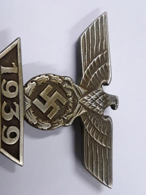 croix de fer ww1 avec rappel 1939 et badge blésse ww1 à authentifier et estimer 20191150