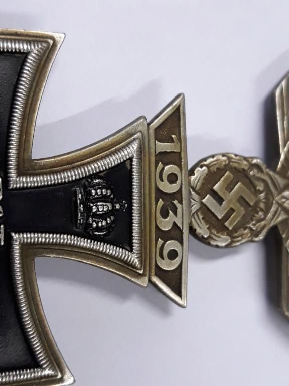 croix de fer ww1 avec rappel 1939 et badge blésse ww1 à authentifier et estimer 20191155
