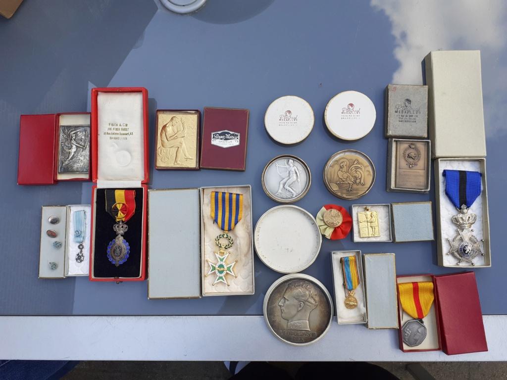 Lot de médaille Belge à identifier et estimer  20200910