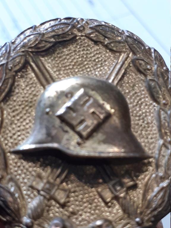 insigne blessé allemand 1939 or et 1936 argent 20200952
