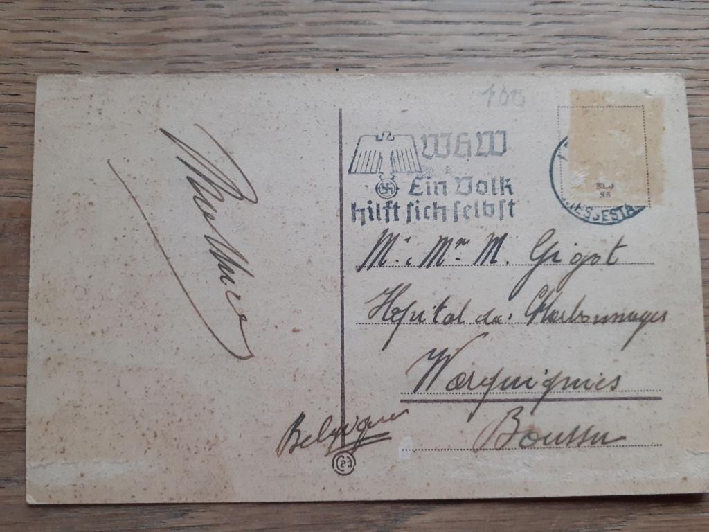 carte postal allemande et photo panzer 20201228