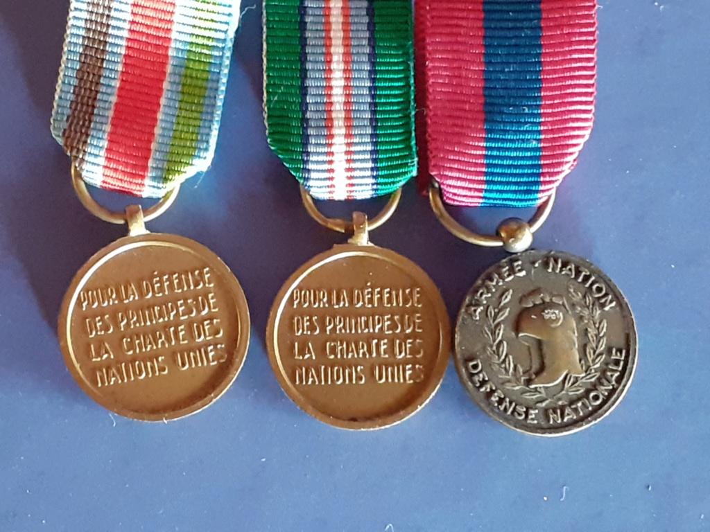 Médailles francaises en réduction sur barettes 20210247