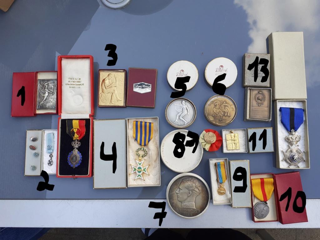 Lot de médaille Belge à identifier et estimer  Od10