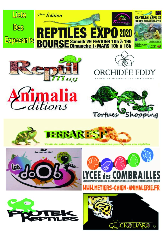 REPTILES EXPO BOURSE VICHY 29 FÉVRIER ET 1 MARS 2020 1liste10