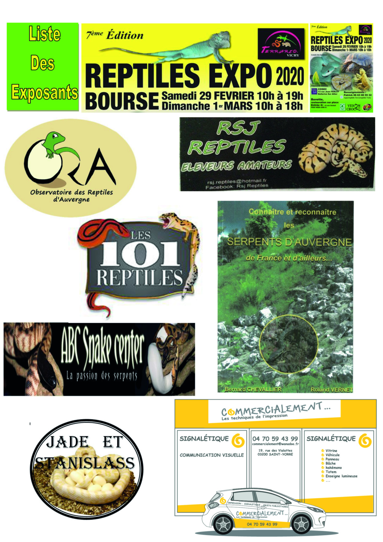 REPTILES EXPO BOURSE VICHY 29 FÉVRIER ET 1 MARS 2020 7liste10