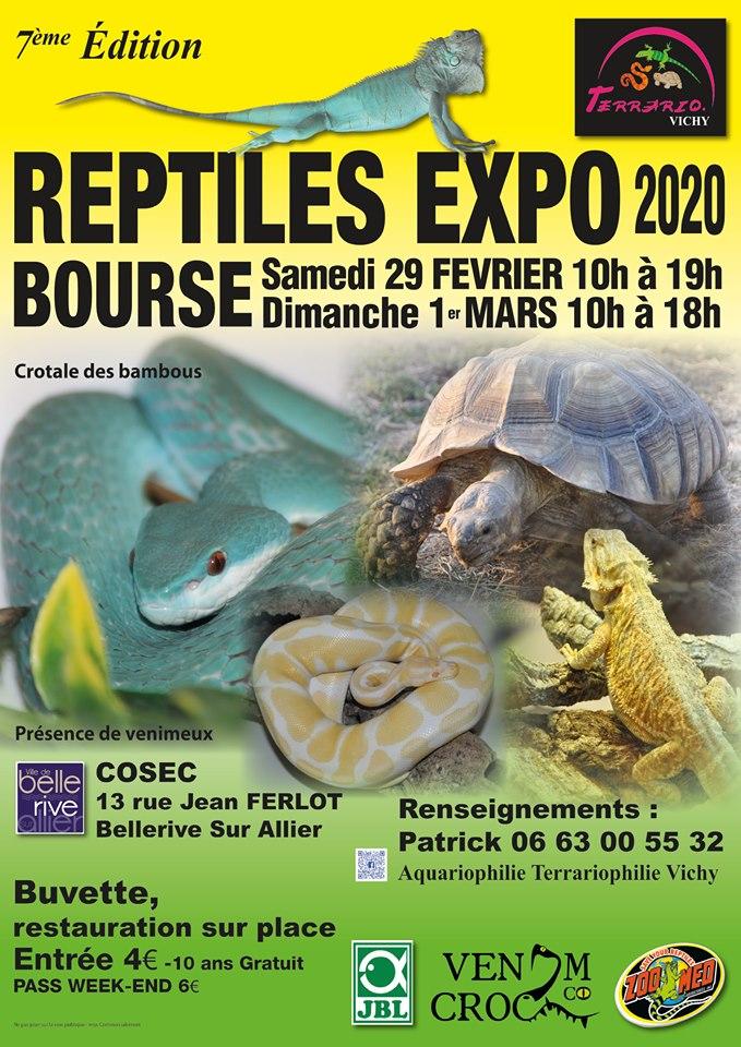 REPTILES EXPO BOURSE VICHY 29 FÉVRIER ET 1 MARS 2020 Affich10