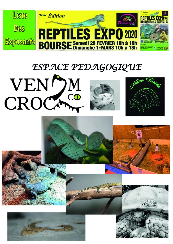 REPTILES EXPO BOURSE VICHY 29 FÉVRIER ET 1 MARS 2020 Pedago10