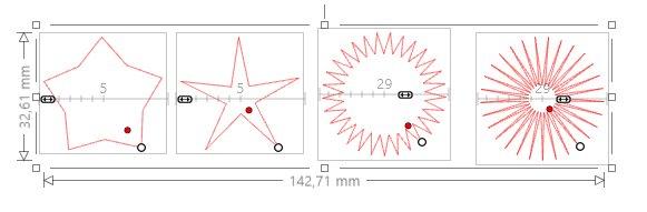 réapprendre à utiliser Silhouette studio : étoiles et matériaux prédéfinis Etoile11