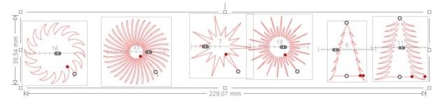 réapprendre à utiliser Silhouette studio : étoiles et matériaux prédéfinis Exempl10