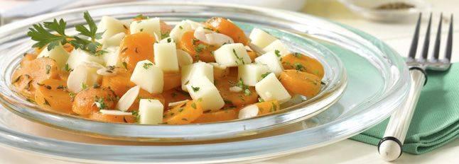 Insalata di carote, mandorle e galbanino Insala10