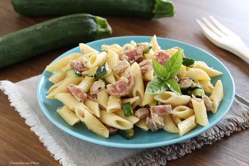 Pasta fredda con tonno, zucchine e salsicce Pasta-10
