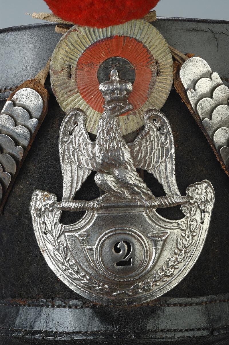hausse col et plaque de shako à l'aigle Shako_10
