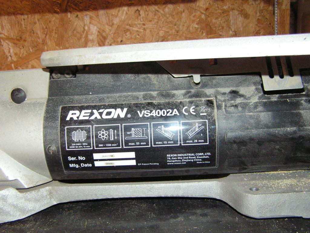 Recherche notice utilisation Scie à chantourner Rexon 4002A Pict2611