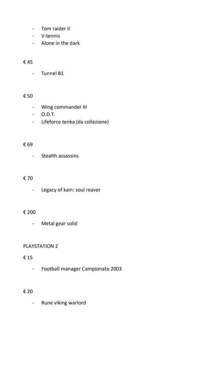 Giochi playstation 1 da 16 a 200 euro. Vari titoli Psx_2023