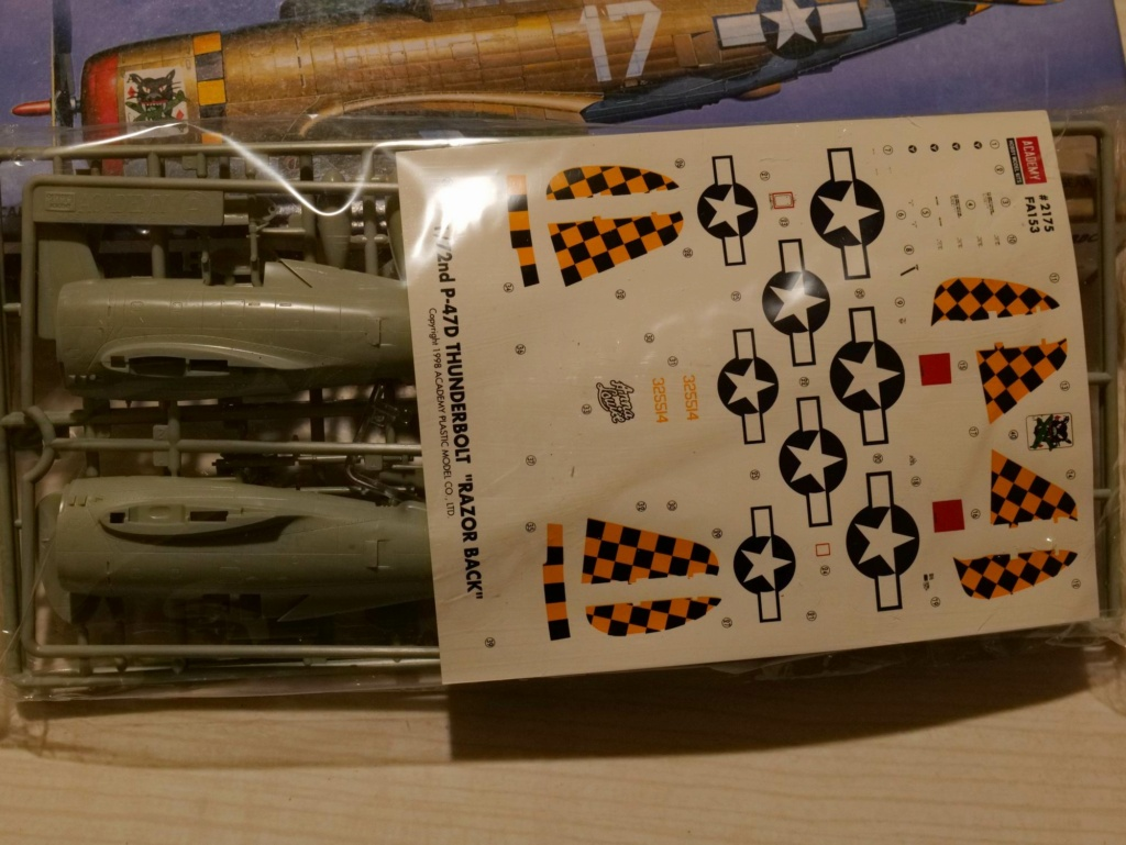 [ACADEMY] REPUBLIC P-47D THUNDERBOLT RAZOR BACK 1/72ème Réf 2175 000_ac12