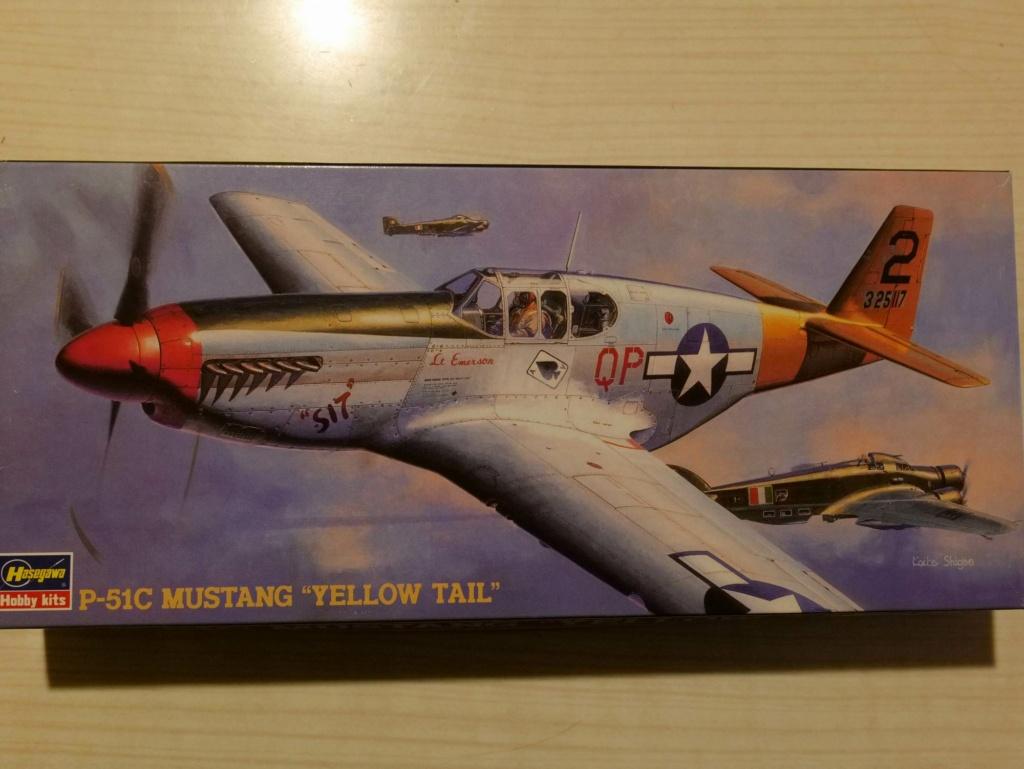 [HASEGAWA] NORTH AMERICAN P-51C MUSTANG yellow tail 1/72ème Réf AP12 000_h104