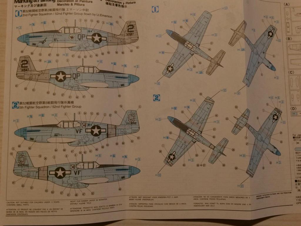 [HASEGAWA] NORTH AMERICAN P-51C MUSTANG yellow tail 1/72ème Réf AP12 000_h106