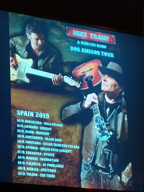 Mike TRAMP & Marcus NAND Villava Pampelune 14/09/2019 Mike_t14