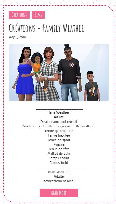 Le Monde de FannyChou'- Blog de Sims - Page 3 Family10
