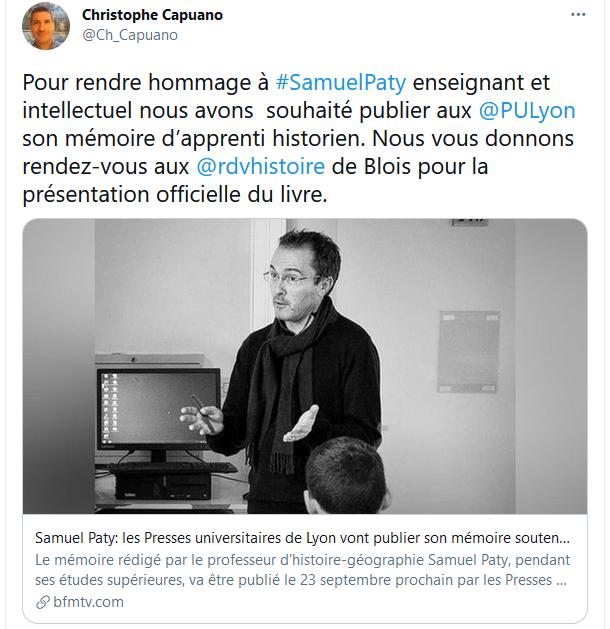 Fondation du Prix Samuel Paty  Samuel10