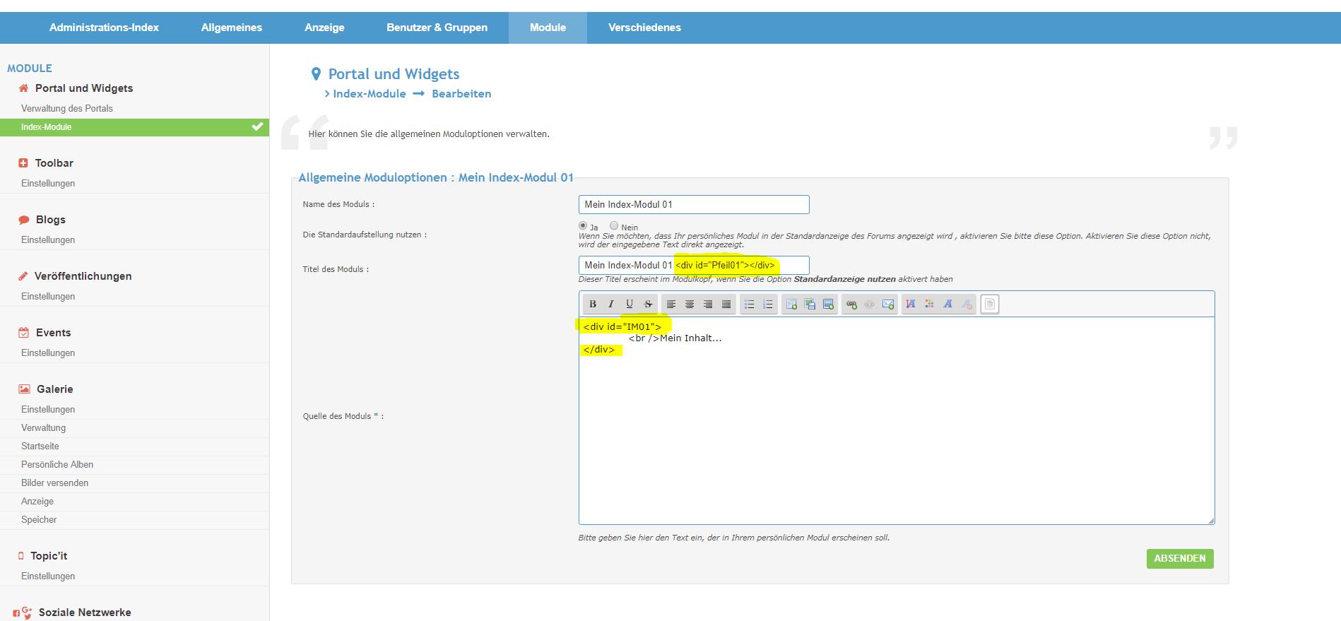 [Tutorial - alle Versionen] Index-Module einzeln ein- und ausklappen Index-11