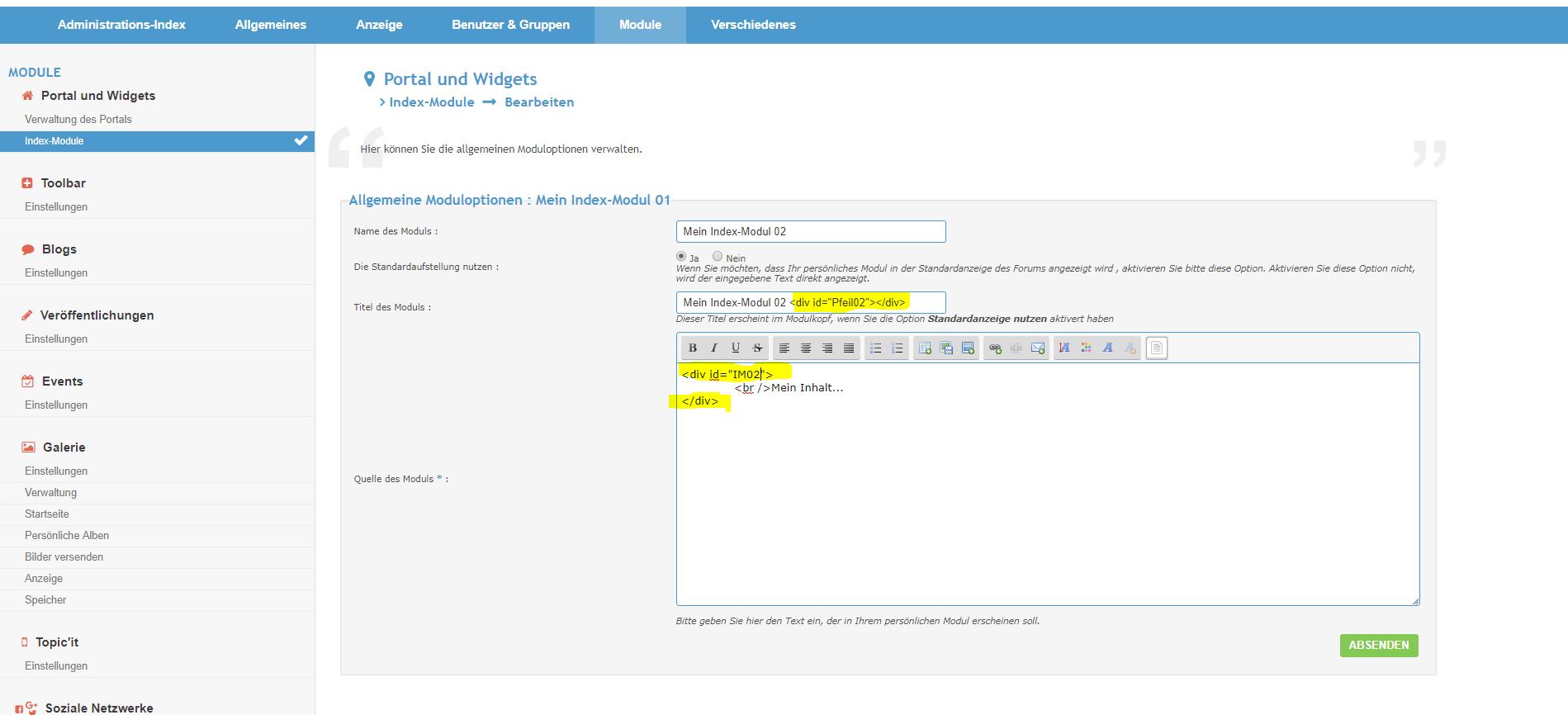 [Tutorial - alle Versionen] Index-Module einzeln ein- und ausklappen Index-12