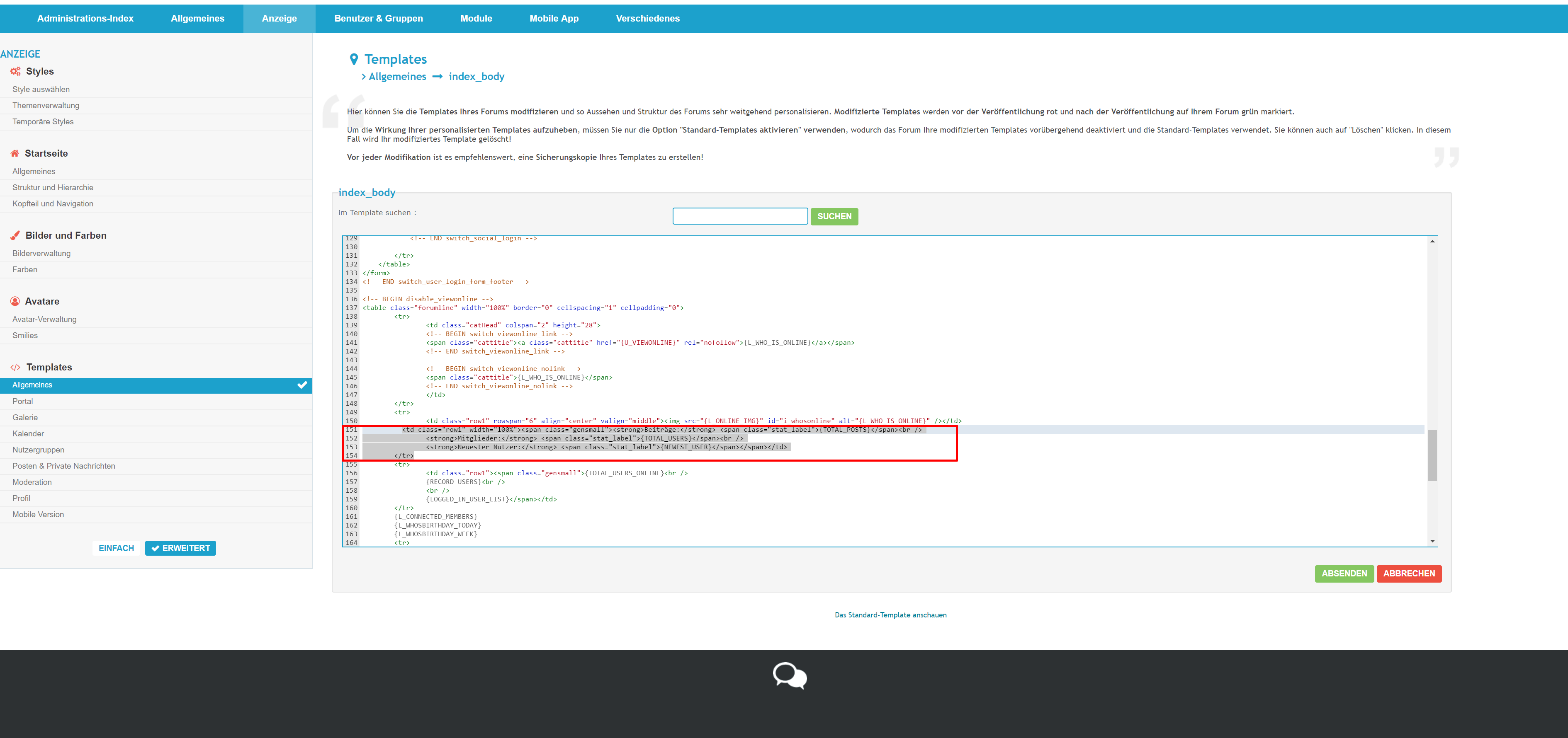[phpBB2]Text bei der Online-Anzeige ändern Screen13