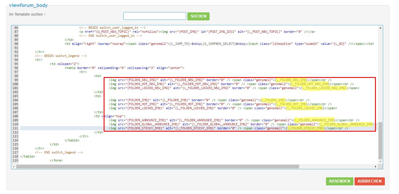 [phpBB2]Die Grafik für neue/alte Beiträge über CSS bestimmen Screen22