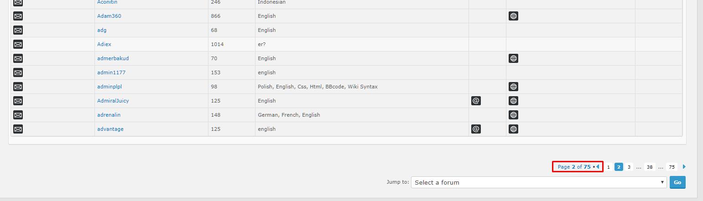 [#15404][phpBB2]Seitenzahlen in den Gruppen Screen23