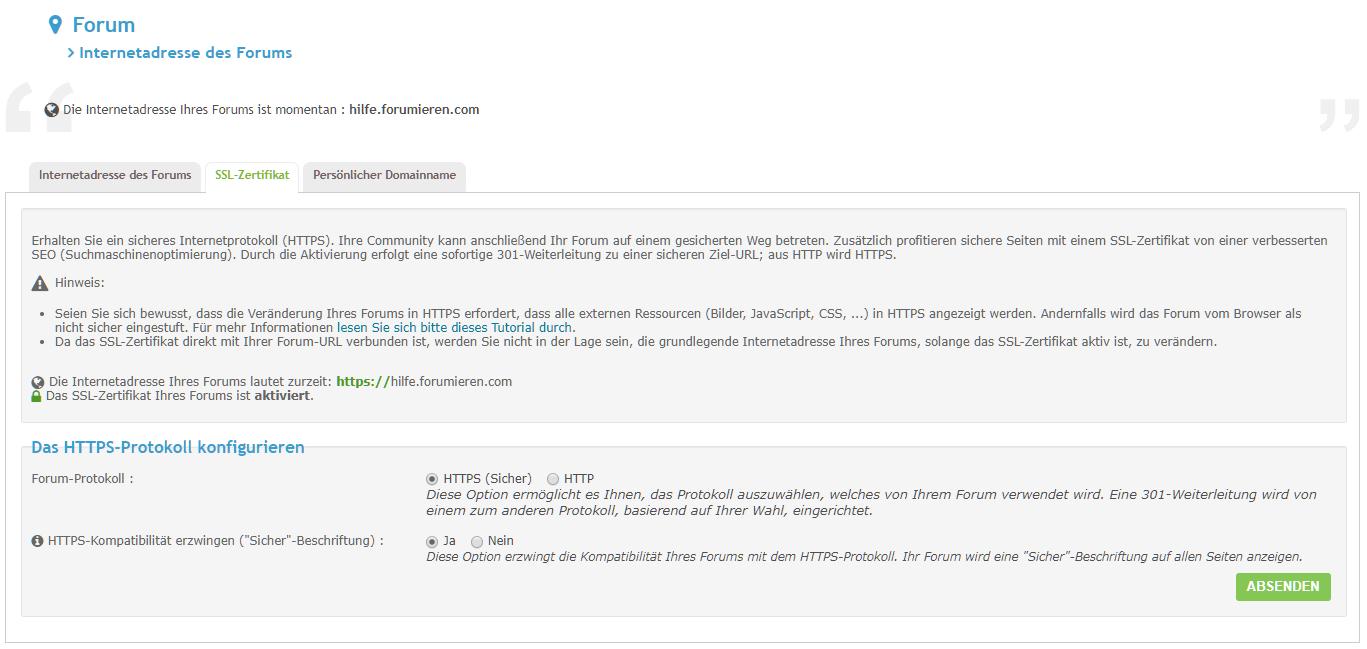 [Mitteilung] SSL-Zertifikat ist nun KOSTENLOS in Forumieren-Foren enthalten Ssl-10