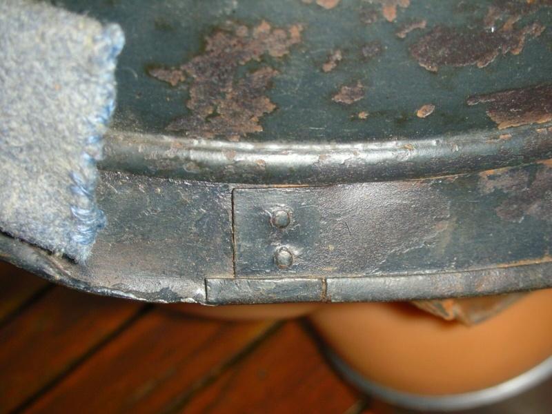 Authentification : Casque Adrian 1915 artillerie avec visière coupée + bandeau. S-l16013