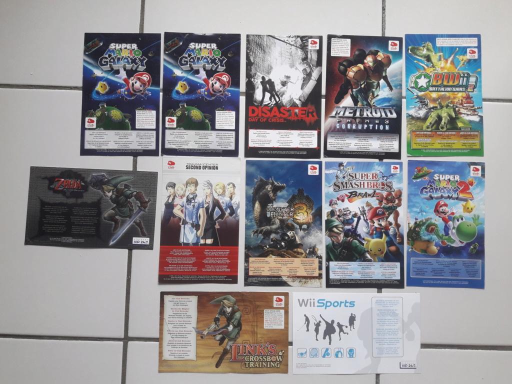 [ECH] Lot de Points VIP (gamecube, ds...)+ Lot de poster, encarts et cartes Sega et Nintendo 20191010