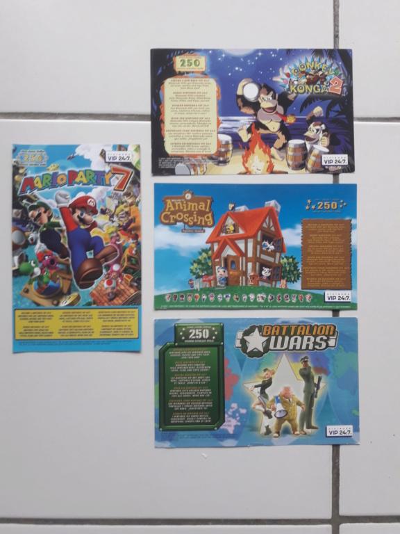 [ECH] Lot de Points VIP (gamecube, ds...)+ Lot de poster, encarts et cartes Sega et Nintendo 20191012