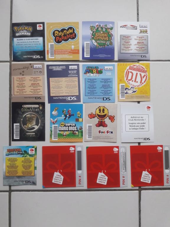[ECH] Lot de Points VIP (gamecube, ds...)+ Lot de poster, encarts et cartes Sega et Nintendo 20191013
