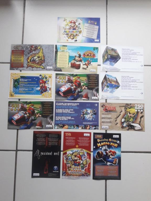 [ECH] Lot de Points VIP (gamecube, ds...)+ Lot de poster, encarts et cartes Sega et Nintendo 20191014