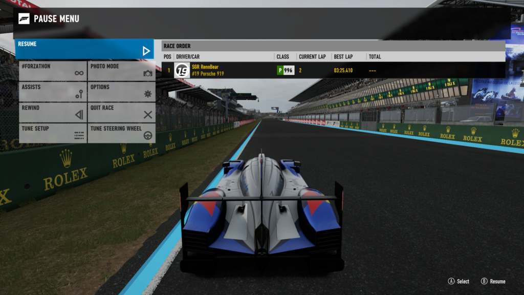TORA 24 Hours of Le Mans - Rule 5.5 - LMP1 drivers must run a sub 3:30 lap Forza_11