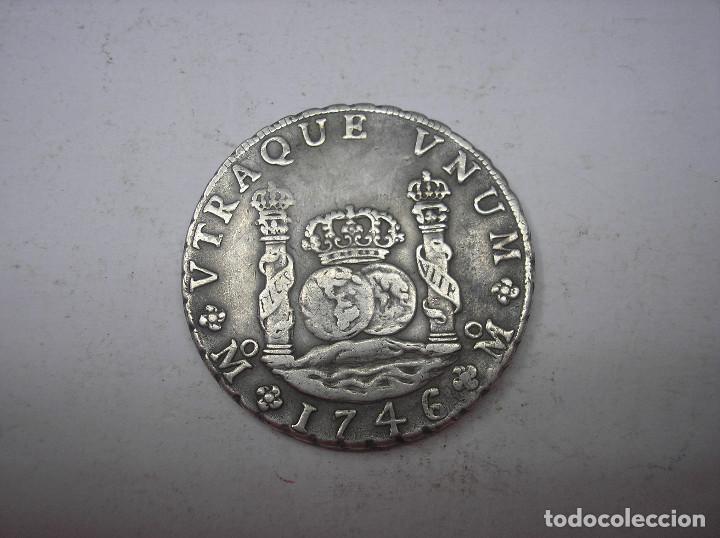 Opinión 8 reales, Felipe V - México 1746 110