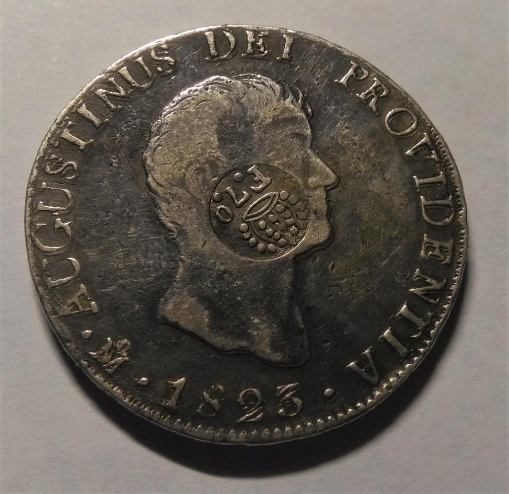 8 Reales 1832-1834. Fernando VII. Resello de Manila Img_2022