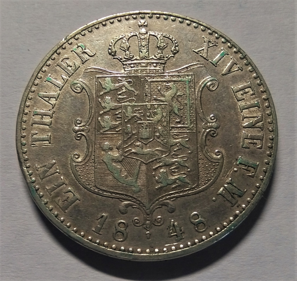 Una de calvos: 1 Thaler - Hannover, 1848 Img_2047