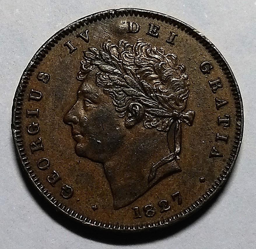 1/3 Farthing - Jorge IV - Reino Unido, 1827 Img_2084