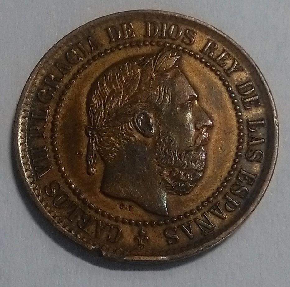 5 Céntimos 1875. Carlos VII. Oñate: Otra navarra Img_2116