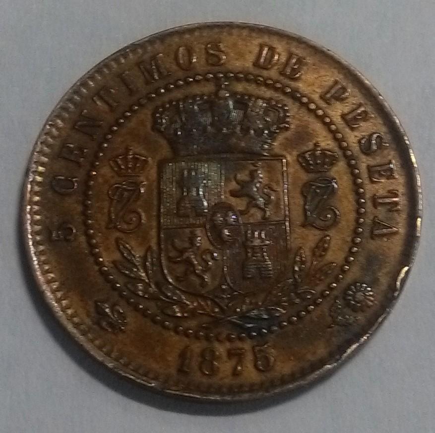 5 Céntimos 1875. Carlos VII. Oñate: Otra navarra Img_2117