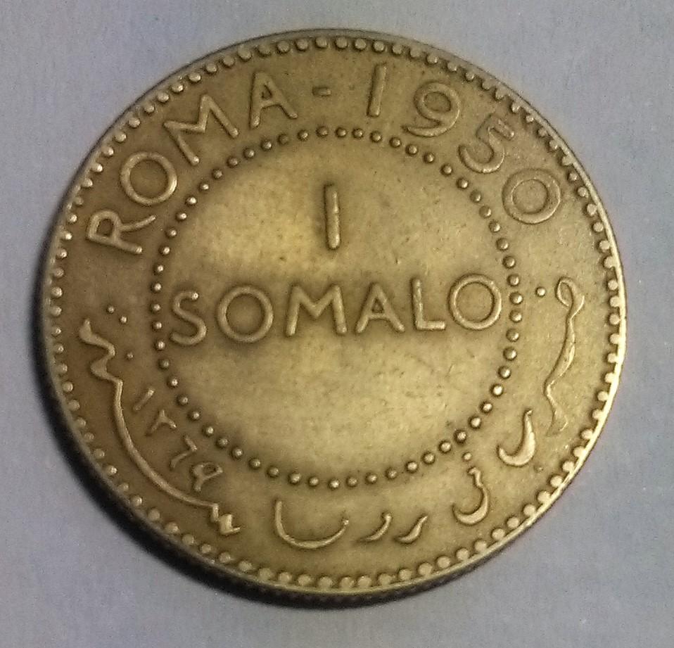 SOMALIA ITALIANA: 1 Somalo, 1950 Img_2118