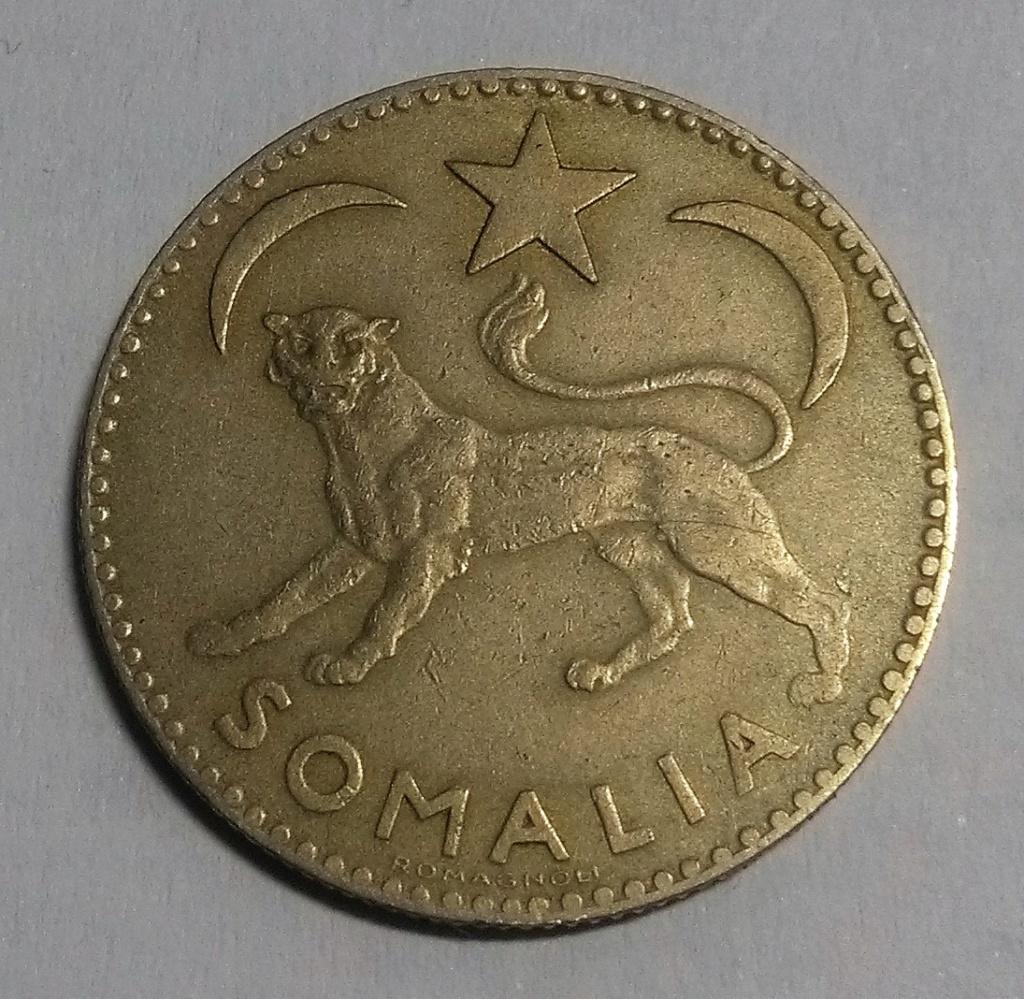 SOMALIA ITALIANA: 1 Somalo, 1950 Img_2119
