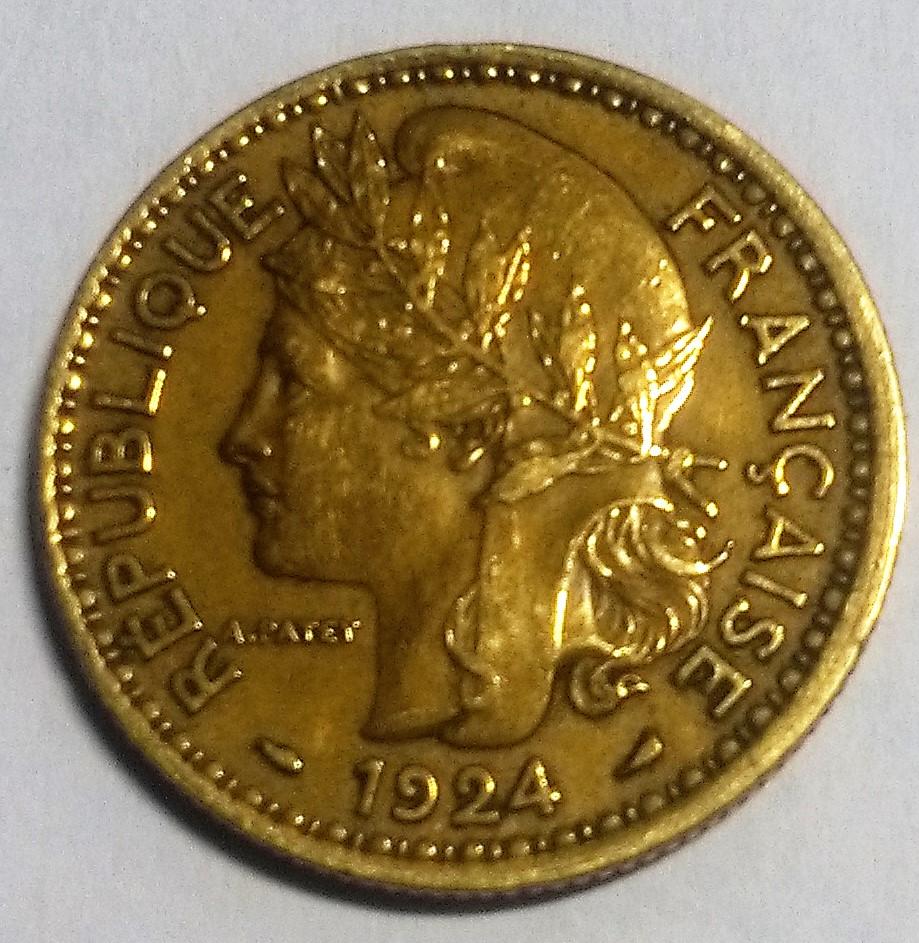TOGO/FRANCIA: 2 Francos, 1924. Img_2120