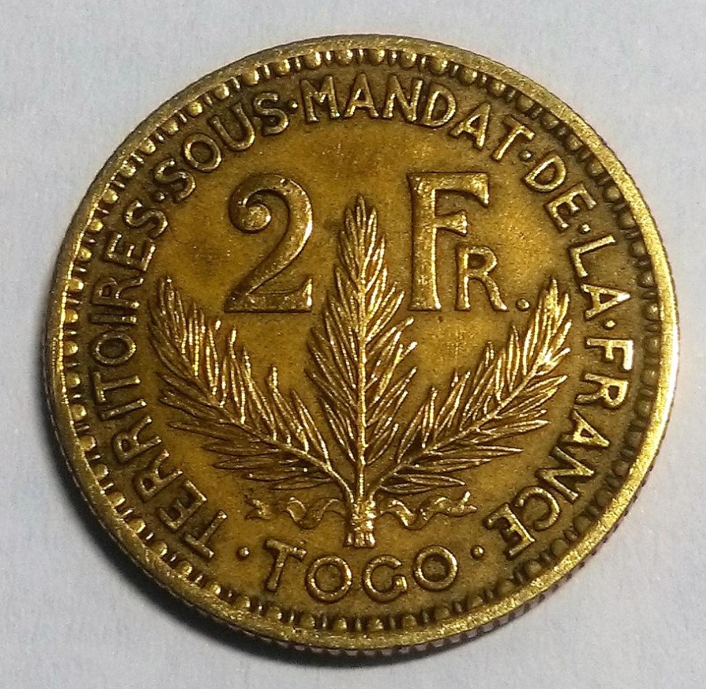 TOGO/FRANCIA: 2 Francos, 1924. Img_2121