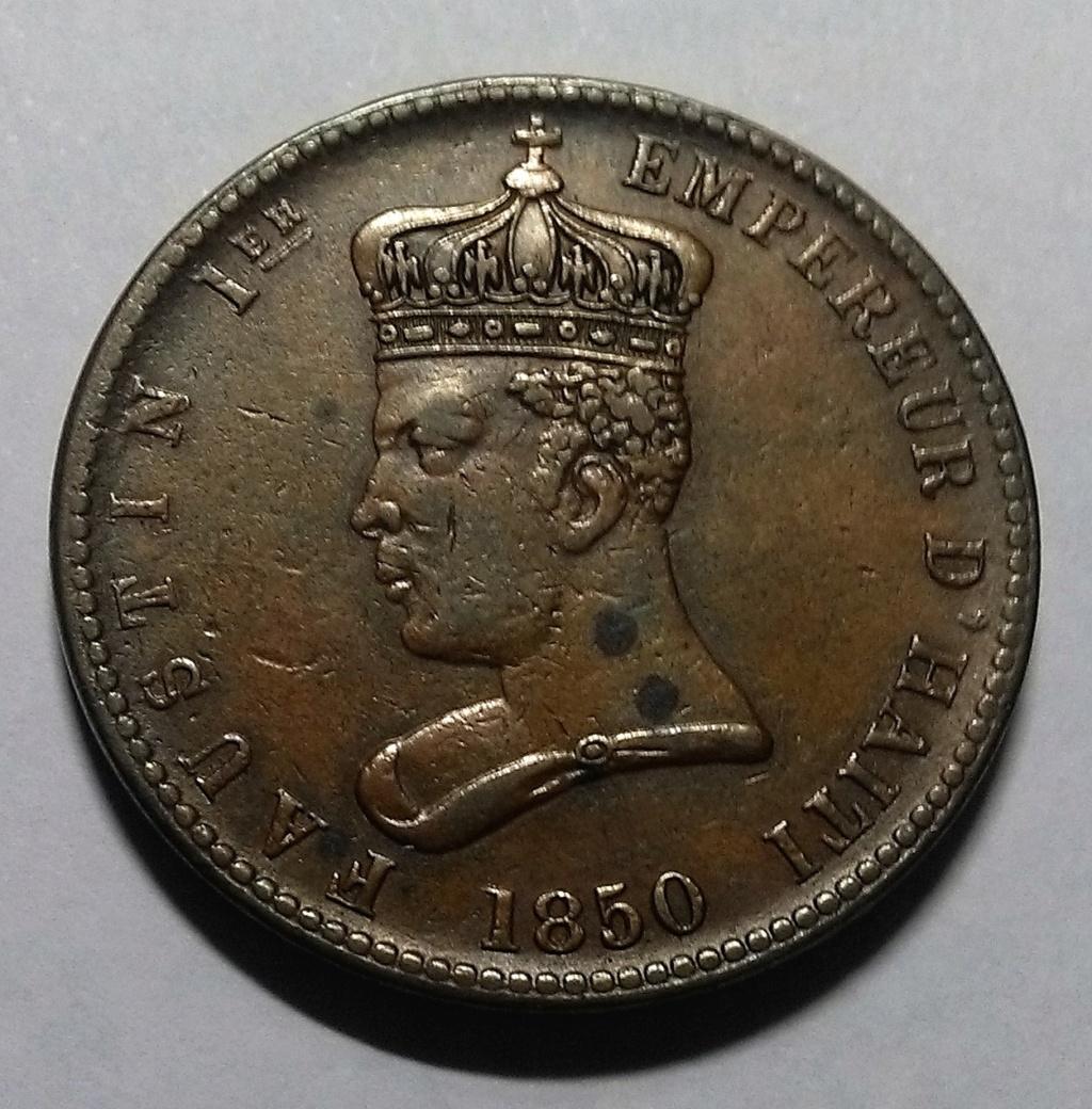 HAITÍ: 6 ¼ Céntimos, 1850 – Faustin I (dedicado a 10 pfennig) Img_2143